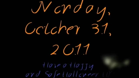 Thumbnail for entry Monday, October 31, 2011