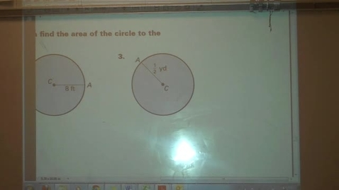 Thumbnail for entry Area of a Circle Example Problems (Homework Help)
