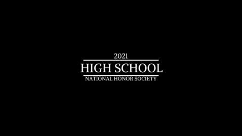 Thumbnail for entry 2021 HS NHS ceremony