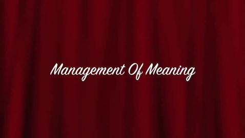 Thumbnail for entry Management of Meaning MKW & MP