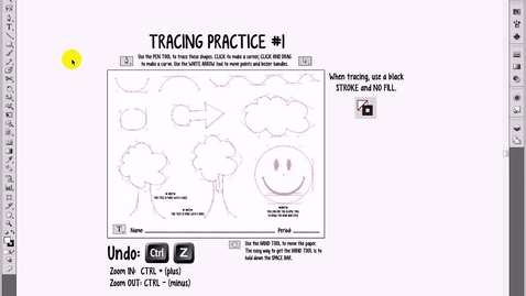 Thumbnail for entry Tracing Practice 1