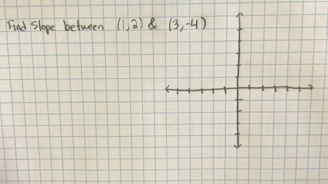 Thumbnail for entry Mr. Lamarre's Extra Help: Slope between Two Points