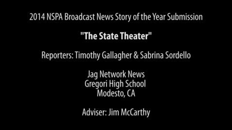Thumbnail for entry NSPA Broadcast Story of the Year Submission