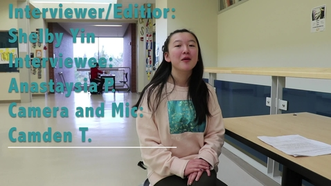 Thumbnail for entry Shelby Yin Interviewing