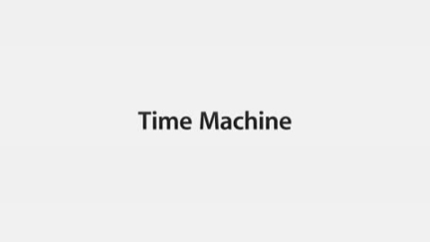 Thumbnail for entry Time Machine - Mac OS X Leopard