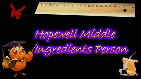 Thumbnail for entry Ingredients Person