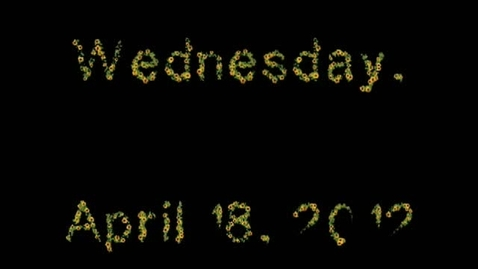 Thumbnail for entry Wednesday, April 18, 2012