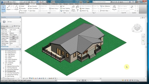 Thumbnail for entry REVIT 16 - ELEVATIONS