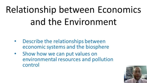 Thumbnail for entry Relationship between Economics and the Environment