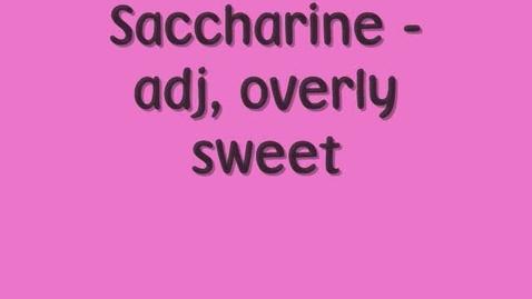 Thumbnail for entry Saccharine