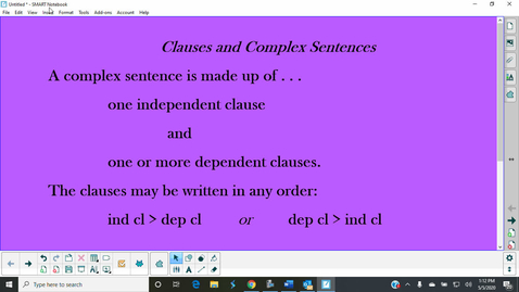 Thumbnail for entry Clauses and Complex Sentences