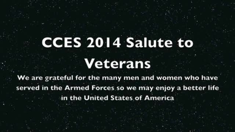 Thumbnail for entry CCES Salute to Soldiers 2014 (Slideshow of Veterans)