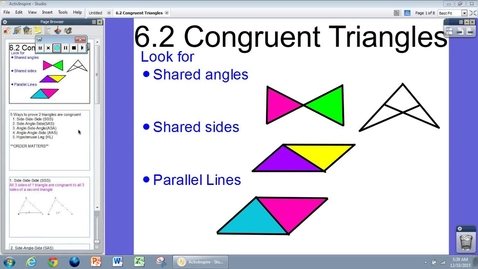 Thumbnail for entry 6.2 Congruent Triangles Notes