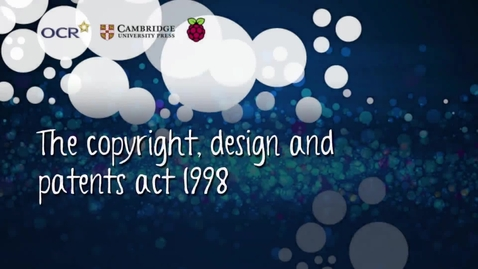 Thumbnail for entry The copyright, design and patents act 1998