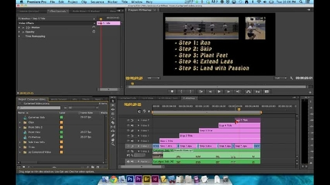 Thumbnail for entry How To Video - Premiere Editing - Step 8