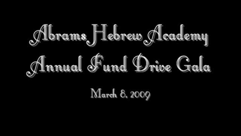 Thumbnail for entry Abrams Hebrew Academy Gala