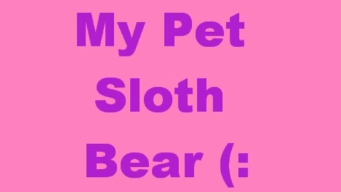 Thumbnail for entry Sloth Bear