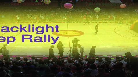 Thumbnail for entry Star Wars Blacklight Pep Rally
