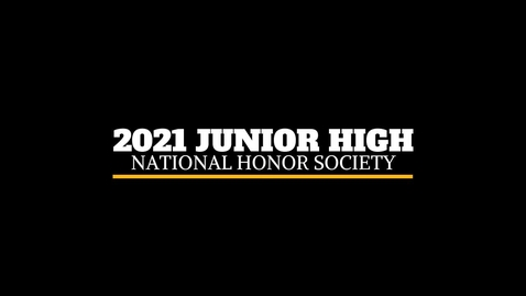 Thumbnail for entry 2021 JH NHS ceremony