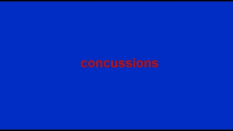 Thumbnail for entry Concussions