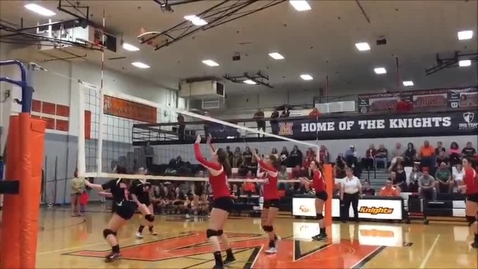 Thumbnail for entry Erika Pritchard makes her 600th kill in volleyball