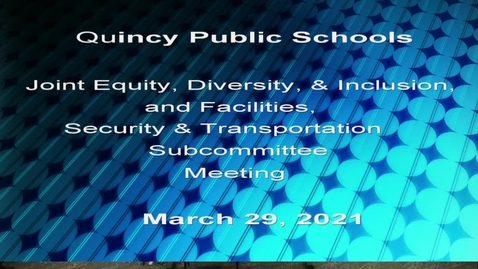 Thumbnail for entry Joint Equity, Diversity & Inclusion and Facilities, Security, & Transportation Subcommittee March 29, 2021