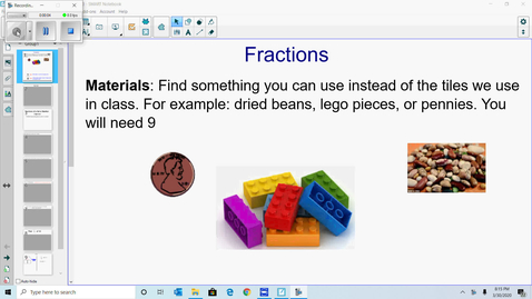 Thumbnail for entry Fractions of a set lesson for distance learning