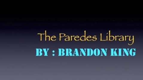 Thumbnail for entry The Paredes Library