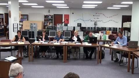 Thumbnail for entry 6/13/11 Warren County School Board Meeting