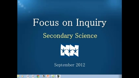 Thumbnail for entry September Focus on Inquiry