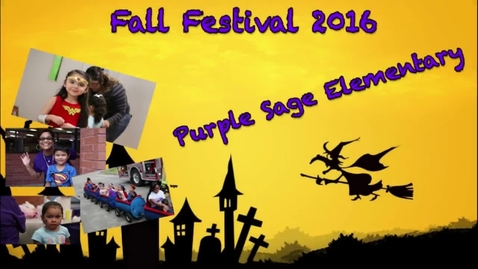Thumbnail for entry Purple Sage Elementary Fall Festival