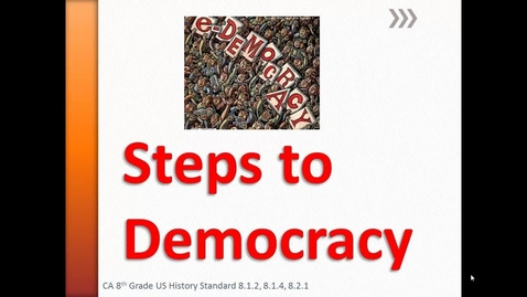 Thumbnail for entry Steps to Democracy