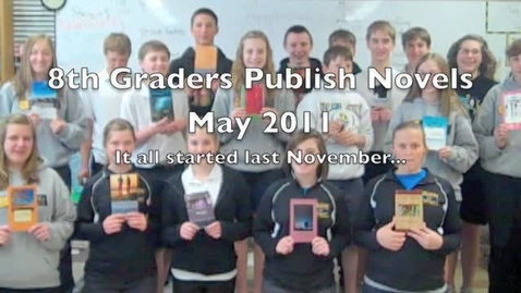 Thumbnail for entry 8th Grade Novelists