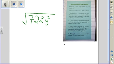 Thumbnail for entry Simplifying Radicals example 13