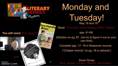 Thumbnail for entry Mystery Genre: Encyclopedia Brown, Week 5