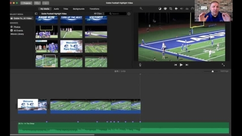 Thumbnail for entry iMovie editing football clips to timeline
