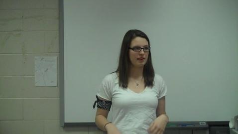 Thumbnail for entry Spring 2012 -- Motivational Speech -- Kelsey Elizer CHOKE 1 -- Mr. Gilbert's class