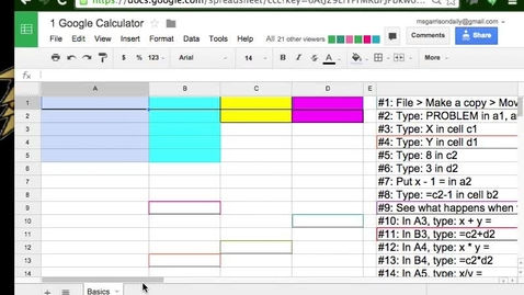Thumbnail for entry Tutor Fairy: Google Spreadsheets Assignment 1