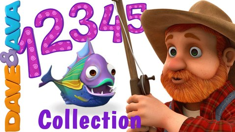 Thumbnail for entry 12345 Once I Caught a Fish Alive | Number Song | Nursery Rhymes Collection from Dave and Ava