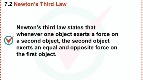 Thumbnail for entry Wording of Newton's Third Law
