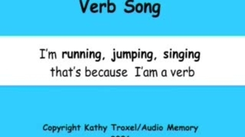 Thumbnail for entry Verb Song
