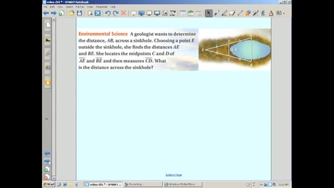 Thumbnail for entry Using the Triangle Midsegment Theorem