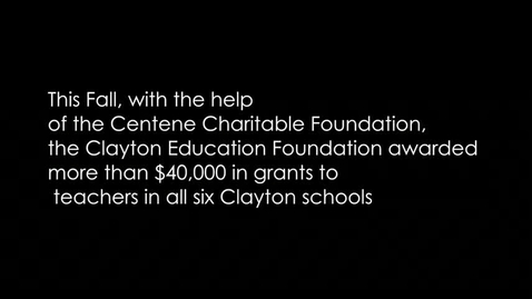 Thumbnail for entry Clayton Education Foundations Grants 2017