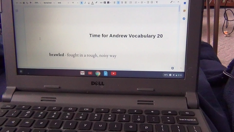Thumbnail for entry Twentieth Vocabulary Sheet for Time for Andrew by Mary Downing Hahn