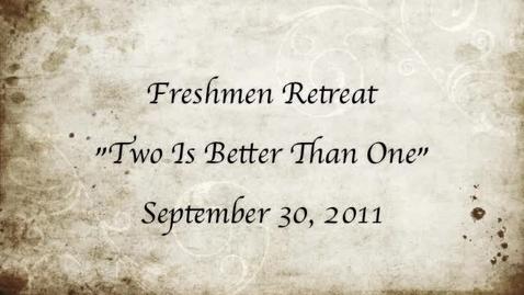 Thumbnail for entry Freshman retreat
