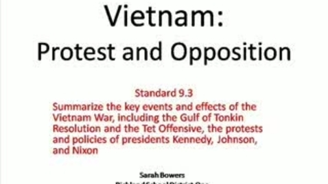 Thumbnail for entry Viet Nam: Protest and Opposition