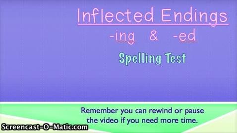 Thumbnail for entry EOY- 1- Inflected Endings