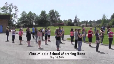 Thumbnail for entry Vista Middle School Marching Band - May 2014