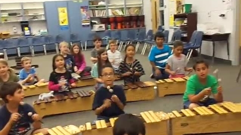 """Thumbnail for entry 13-14 Ms. Cole's 3rd grade class """"When the Saints Go Marchin In"""""""