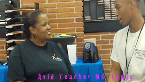 Thumbnail for entry Interview with the AVID teacher